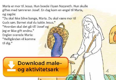 25. marts Herrens bebudelse – Gratis opgaveside, du kan downloade!